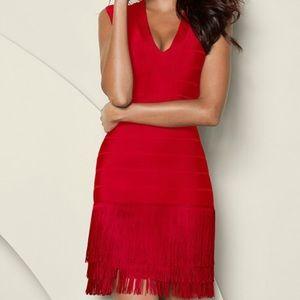 Red Venus fringe dress